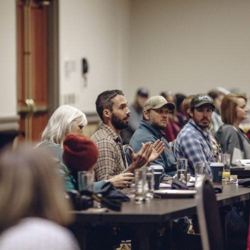 Audience talkback at Outdoor Blogger Summit in Bentonville
