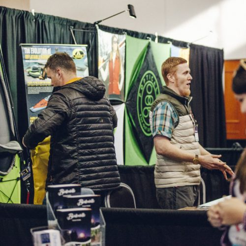 Brand booths at Outdoor Blogger Summit in Bentonville