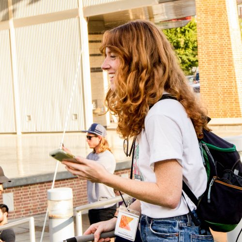 Attendee at Outdoor Media Summit 2018 in Roanoke Virginia